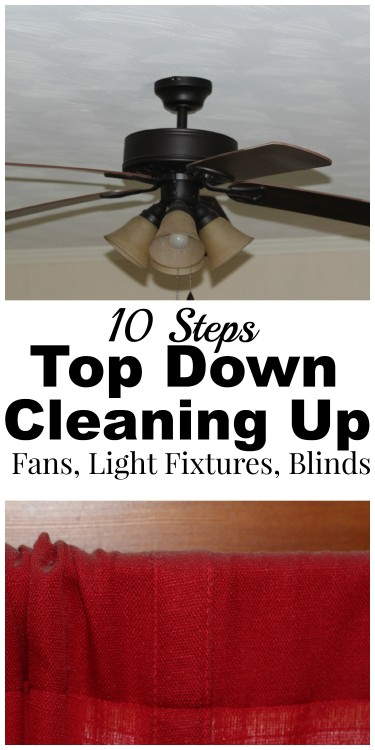 how to take down blinds to clean