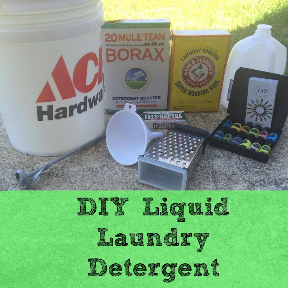 DIY Liquid Laundry Detergent