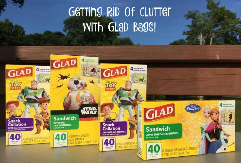 getting rid of clutter with glad