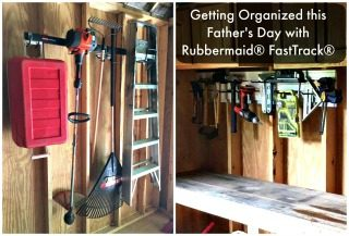 Getting Organized this Father's Day with Rubbermaid® FastTrack®