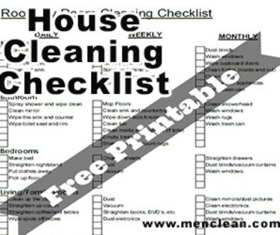 checklist cleaning house