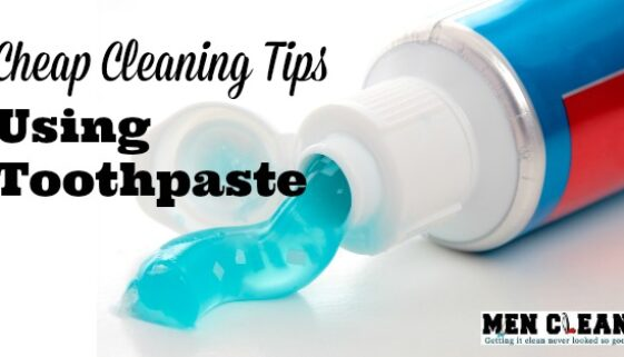 cleaning with toothpaste