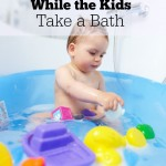 Quick Bathroom Cleaning Tips While the Kids Take a Bath
