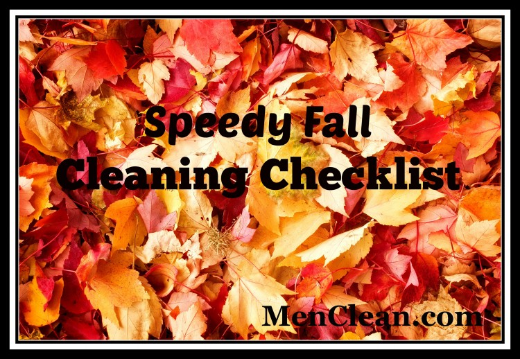 Speedy Fall Cleaning checklist