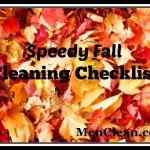 Speedy Fall Cleaning Checklist