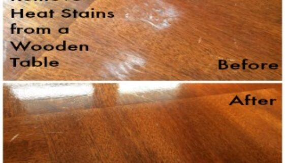How To Remove Heat Stains from a Wooden Table 320