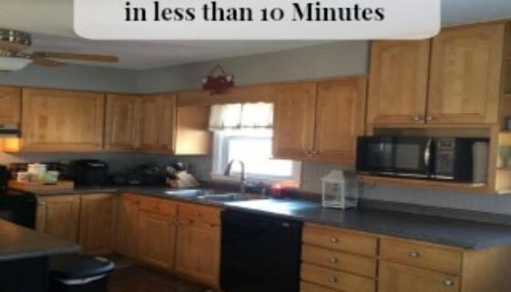 How to Clean your Kitchen in less than 10 Minutes is simple with these few tips.