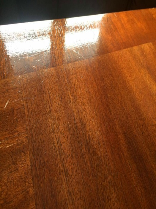 How to clean heat stains on a wooden table 3