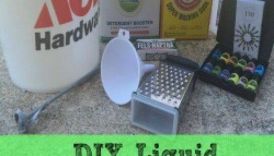 DIY Liquid Laundry Detergent feature