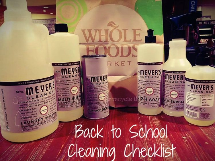 Back to School Cleaning Checklist 1